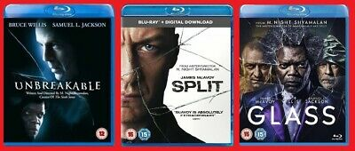 Unbreakable Split & Glass Blu-ray Triple Pack All 3 Films Brand NEW Sealed