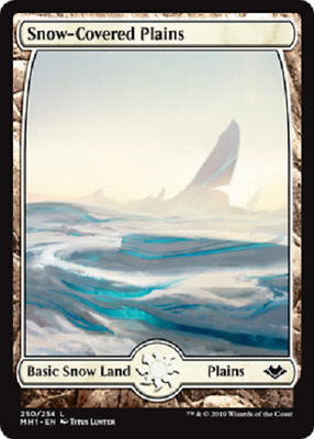 Snow-Covered Plains Modern Horizons Magic The Gathering MTG Basic Land NM/M