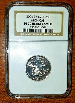 2004 D P S Michigan State Quarters From Proof// Mint Sets Combined Shipping