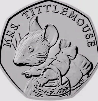 UK GB Coin 50p Pence Tittle Mouse Peter Rabbit Collection New UNC from Bags