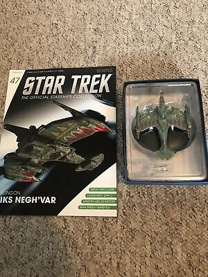 Eaglemoss Star Trek Collection- Starship & Magazine #47- Klingon Iks Negh'var