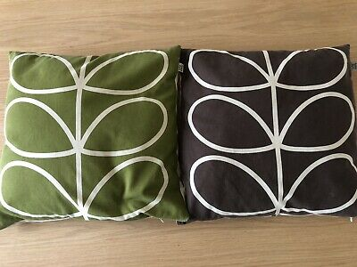 2 X Orla kiely Cushions (cover And Pad) Great Condition 44cmx44cm. John Lewis