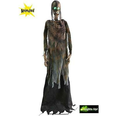 Halloween LifeSize Eerie ANIMATED TWITCHING CORPSE Haunted House Decoration Prop