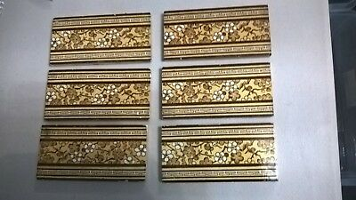 6 fireplace Tiles.   .stock item tiles Y0015..mintons china works