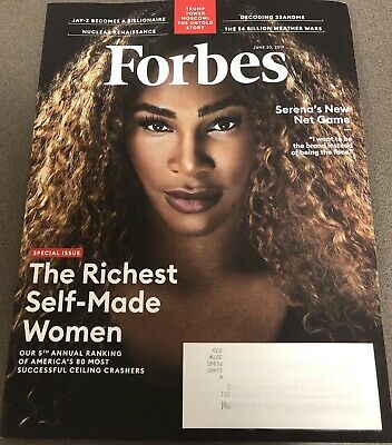 Forbes Magazine - June 3, 2019 - The Richest Self Made Women - Serena Williams