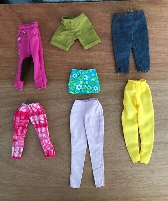 Barbie Doll Clothes Lot Bottoms A
