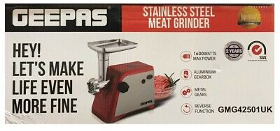 1600W Electric Meat Grinder Mincer Stainless Steel Sausage Maker Machine -Hq