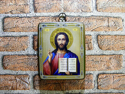 Christ Russian Byzantine Orthodox icon Christ Size 5.7 x 7.3 x 0.8 in