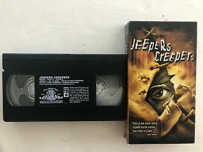 JEEPERS CREEPERS Gina Philips Justin Long Jonathan Breck 2001 R VHS TAPE