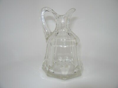 Vintage - Antique Cruet - Heavy Clear Glass - Replacement or great Bud Vase!