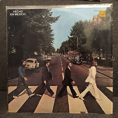 THE BEATLES ABBEY ROAD MEXICAN LP Misaligned Apple, Rare! Titles In Spanish