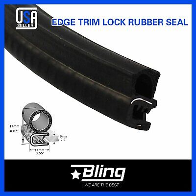 192inch Rubber Seal Edge Trim EPDM Weatherstrip Auto Door Trunk Guard Soundproof