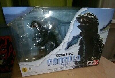 S.H.Monsterarts Godzilla 2002 Figure Against Mechagodzilla Kiryu Bandai New US