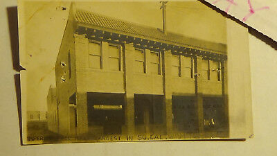 Rppc Postcard imperial POOL HALL BILLIARDS CALF  BUILDING, TOWN VIEW
