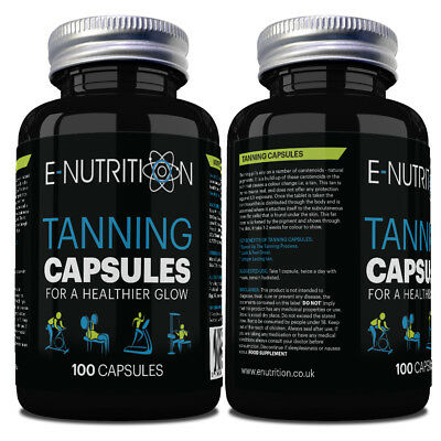 Tanning Capsules 100 Not Tablets | Safe And Healthy Natural Deep Tan Booster