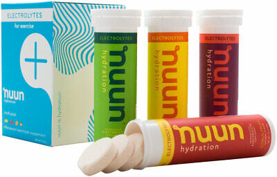 Nuun Electrolytes Hydration Tablets: Original Mixed Pack, Box of 4 Tubes