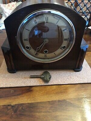 English Westminster Chiming Pendulum Mantel Clock