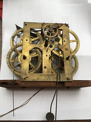 Fine Working Antique Chauncey Jerome Ogee Clock Movement