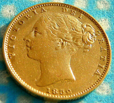 1852 Victoria Shield Back Full Gold Sovereign - London Mint