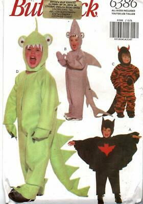 Original UNUSED Butterick Sewing Pattern 6386 - Toddlers  / Children Costumes
