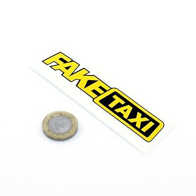 Fake Taxi Sticker Funny Car Motorcycle Window Sticker Vinyl Decals 100mm x2