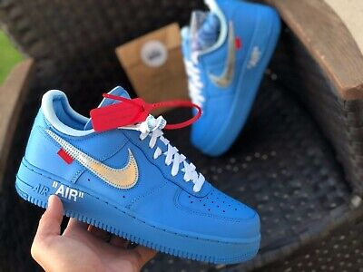 Nike X Off White The Ten Air Force 1 Low Black Size 10 In Hand Ready