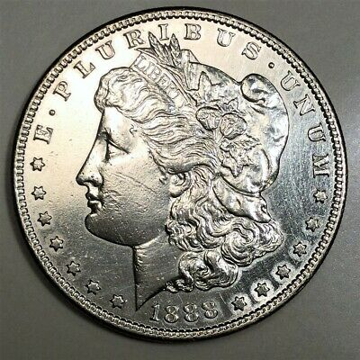 1888-S Morgan Silver Dollar Beautiful High Grade Coin Rare Date