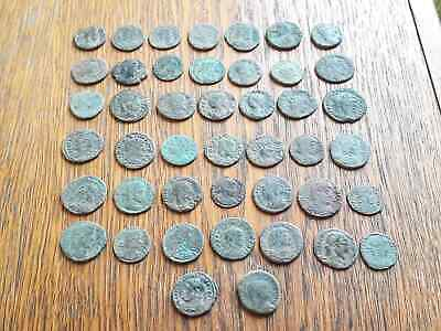 Beautiful Lot Of 44 Ancient Roman Bronze  Coins For Cleaning