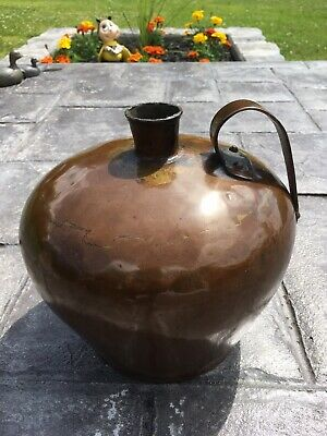 Vintage Antique Arts & Crafts Hand Hammered Solid Copper Gallon Jug Ovoid Vessel