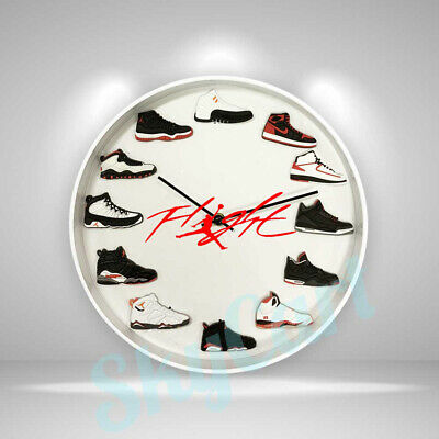 "New Handcrafted 12"" 2D Jordan Sneakers clock OFF white nike supreme kicks yeezy"