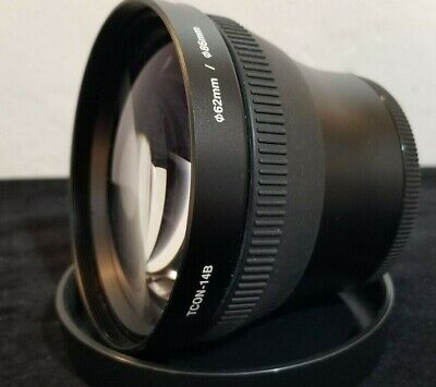OLYMPUS TCON-14B PRO TELE EXTENSION LENS 62MM/86MM estate lens NWOT