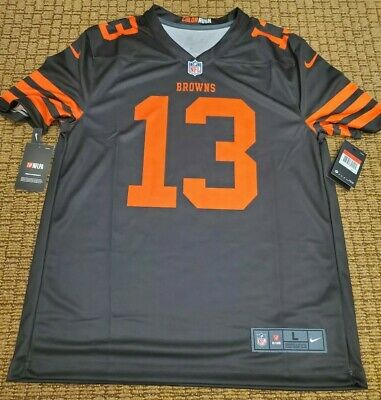 info for c034d 6df70 ODELL BECKHAM JR Cleveland Browns Color Rush Nike Jersey Large L NWT