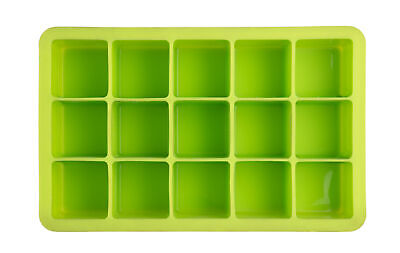 Epicurean Bar Classic Square Cube Ice Tray Mould Makes 15 Lime Green Silicone