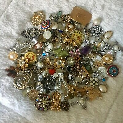 HUGE LOT - Jewelry, Misc Arts & Crafts, Findings, Embellishments, Some Vintage