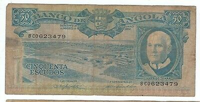 P93 1962 Angola 50 escudo note (world/lot) Combined Shipping