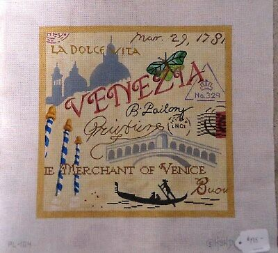 "Hand Painted Needlepoint Canvas ""Italy"""