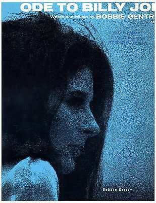 BOBBY GENTRY Sheet Music ODE TO BILLY JOE 1967 Piano Vocal