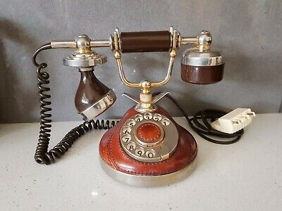 Rotary Dial Minette Leather Phone 1987