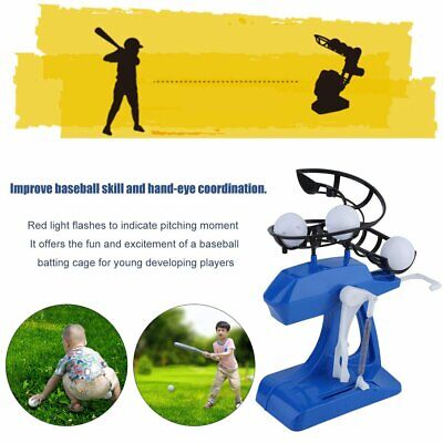 Mini Kids Baseball Practice Adjustable Intelligent Automatic Pitching Machine OZ
