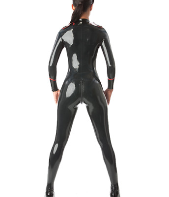 New Ganzanzug Gummi Latex Catsuit Rubber Cosplay Bodysuit Women uniform S-XXL