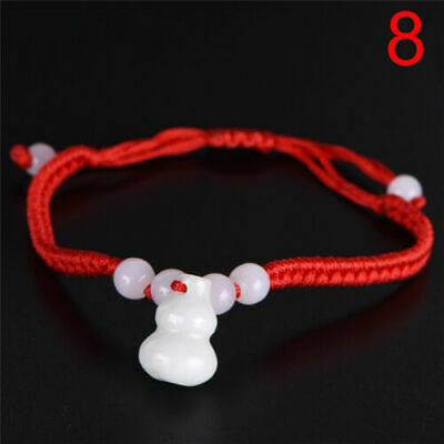 1PC Jade Beads Red String Rope Bracelet Good Luck Lucky Success Moral Amulet