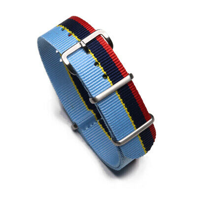 Durable 20mm One-Piece Peugeot Rally Inspired Racing Strap Nylon Watch Band