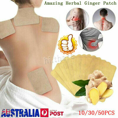 10/30/50X Herbal Ginger Patch Body Detox Neck Knee Pad Pain Relief Health Care