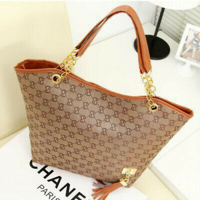 Women Ladies Fashion Checkered Tote Bag Leather Style Quality Shoulder Handbag