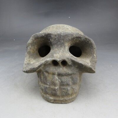Chinese collections,Hongshan culture,manual sculpture, jade,Skull, statue Q855