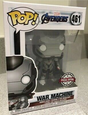 Funko Pop War Machine Avengers EndGame Exclusive #461 *BNIB* Free P&P