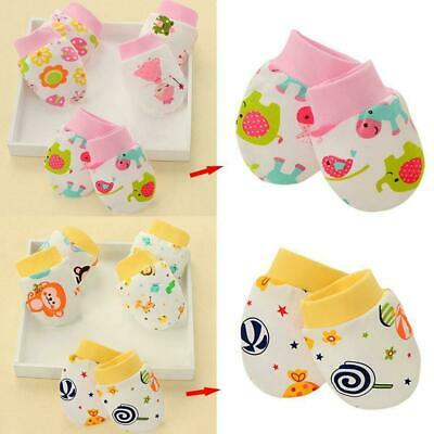 Newborn Boy Girl Infant Cotton Handguard Anti Scratch Mittens Gloves Super F6Y4
