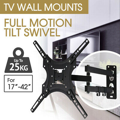 24 32 37 40 42 Inch TV Wall Mount Bracket Swivel Full Motion Tilt VESA
