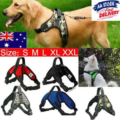 Nylon Dog Harness Adjustable Pet Puppy No Pull Harness Pets Vest S/M/L/XL/XXL AU