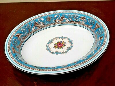 """Wedgwood Florentine Turquoise 10"""" Oval Vegetable Serving Bowl  W2714"""